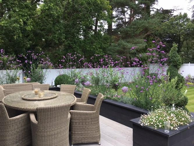 Contemporary gardens dorset bournemouth garden designers for Modern garden beds